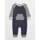 Colorblock Raglan One-Piece