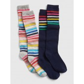 Crazy Stripe Knee-High Socks (2-Pack)