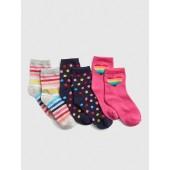 Rainbow Crew Socks (3-Pack)