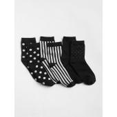 Sparkle Dot Stripe Crew Socks (3-Pack)