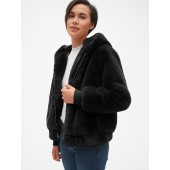 Hooded Faux-Fur Jacket