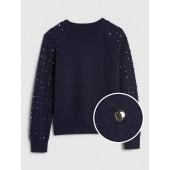Gem-Studded Pullover Sweater