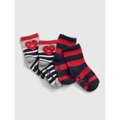 Stripe Heart Crew Socks (2-Pack)
