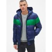 Heavyweight Colorblock Hooded Puffer Jacket