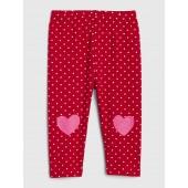 Heart Dot Leggings in Stretch Jersey