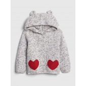 Baby Heart Garter Hoodie Sweater