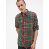 Standard Fit Flannel Pocket Shirt
