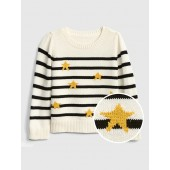 Metallic-Star Stripe Sweater