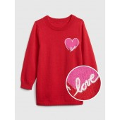 Embroidered Heart Sweater Tunic