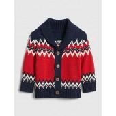 Fair Isle Shawl Cardigan Sweater