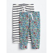 Floral Stripe Pull-On Pants (2-Pack)