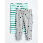Dog Stripe Pull-On Pants (2-Pack)