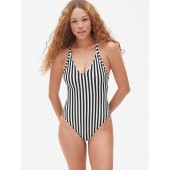Ribbed Racerback One-Piece Suit