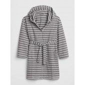 Stripe Hoodie Robe in French Terry