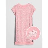 Floral Racerstripe T-Shirt Dress