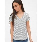 Stripe Vintage V-Neck T-Shirt