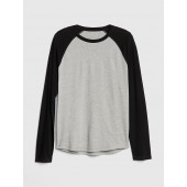 Soft Brushed Raglan Crewneck T-Shirt