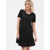Maternity Ruffle Hem T-Shirt Dress