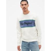 Gap Originals Logo Chest Stripe Pullover Sweatshirt