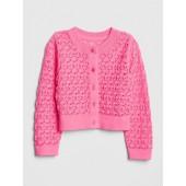 Pointelle Cardigan Crop Sweater