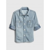Convertible Denim Shirt