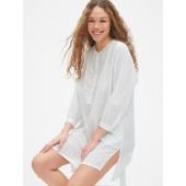 Dreamwell Stripe Bib-Front Shirtdress