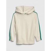 Stripe-Sleeve Hoodie Sweatshirt