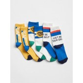 Logo Graphic Crew Socks (3-Pack)