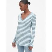 Softspun Stripe Long Sleeve V-Neck Top