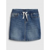 Denim Pull-On Skirt