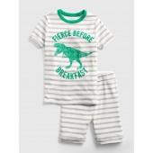 Dino Stripe Short PJ Set