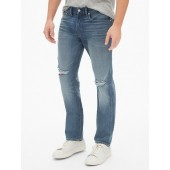 Destructed Slim Jeans with GapFlex