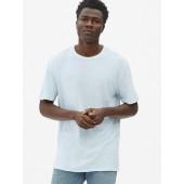 Crewneck T-Shirt in Linen-Cotton