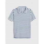 Stripe Short Sleeve Polo T-Shirt