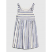 Print Bow Tank Dress