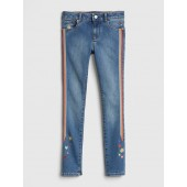 Superdenim Embroidered Skinny Jeans with Fantastiflex