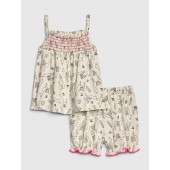 Baby Print Pom Outfit Set