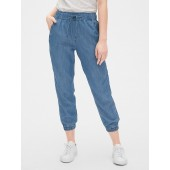 Chambray Joggers in TENCEL&#153