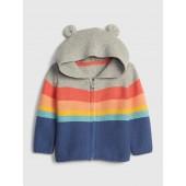 Baby Stripe Garter Hoodie Sweater