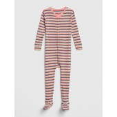 Stripe Footed One-Piece