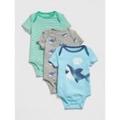 Baby Shark Bodysuit (3-Pack)