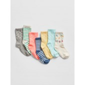 Print Crew Socks (7-Pack)