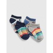 Stripe No-Show Socks (4-Pack)