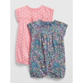Baby Print Shorty One-Piece (2-Pack)