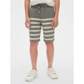 Kids Linen Pull-On Shorts