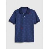 Kids Print Polo Shirt