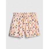Smocked Tassel Pull-On Shorts
