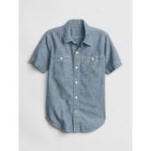 Kids Chambray Short Sleeve Shirt