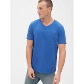 Vintage Slub Jersey V T-Shirt