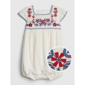 Embroidered Shorty One-Piece